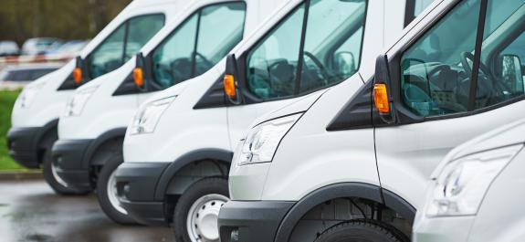 Electric light commercial vehicle charging