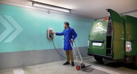 Charging an electric utility vehicle