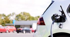 EV charging in supermarket car-park
